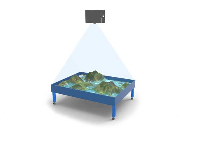 Интерактивная песочница синяя
